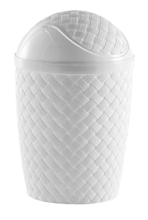 Lixeira Basculante Rattan 7,8L Banheiro OU Cozinha - Paramount