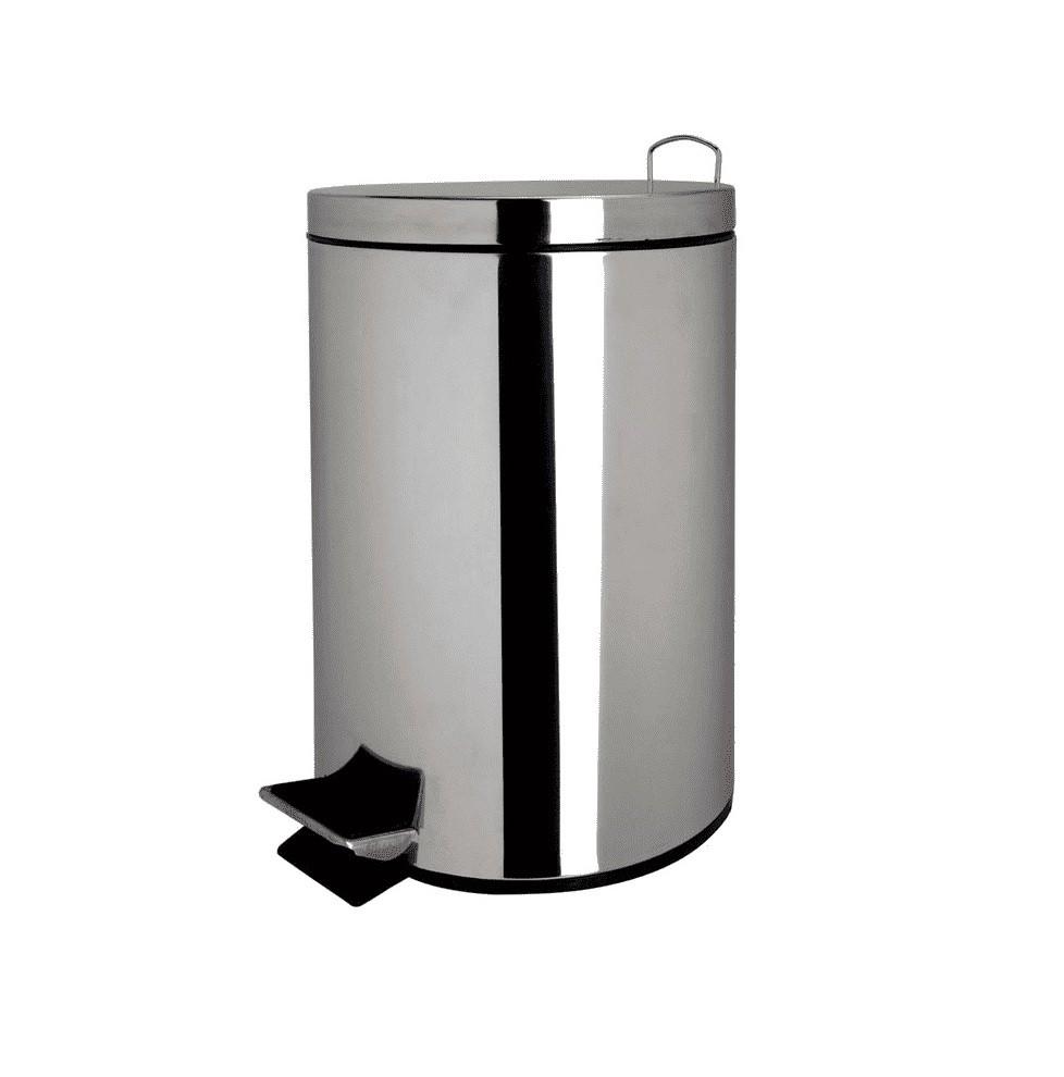 Lixeira Em Aço Inox 3 Litros com Balde Interno Removível - Casa Ambiente