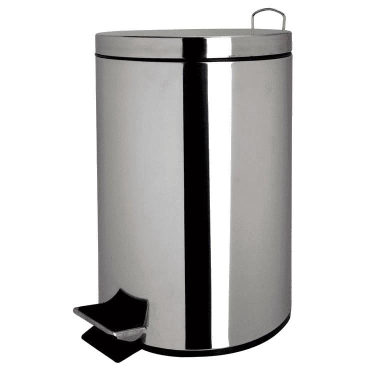 Lixeira Em Aço Inox 5 Litros com Balde Interno Removível - Casa Ambiente