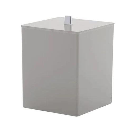 Lixeira Quadrada Creme Bagno Quadratta 7 Litros