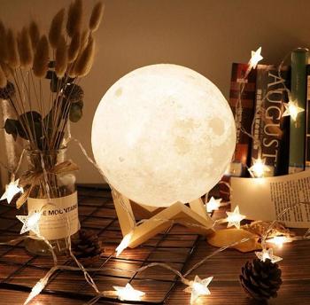 Luminária Decorativa Lua 3D