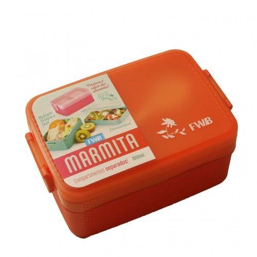Marmita com Compartimentos separados BPA free