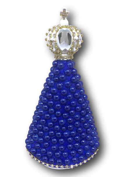 Nossa Senhora Aparecida Gesso com Manto Azul 17cm