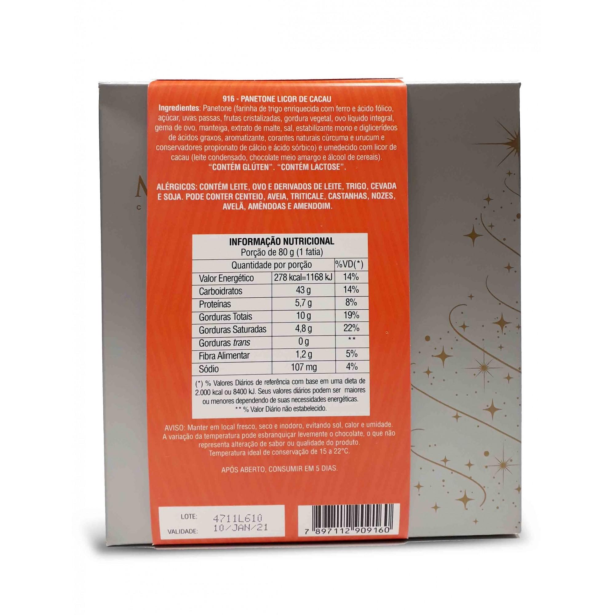 Panetone Frutas com Licor de Cacau 600g - Munik Chocolates