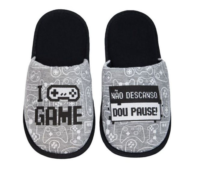 Pantufa Controle Video Game 37/38 Dou Pause
