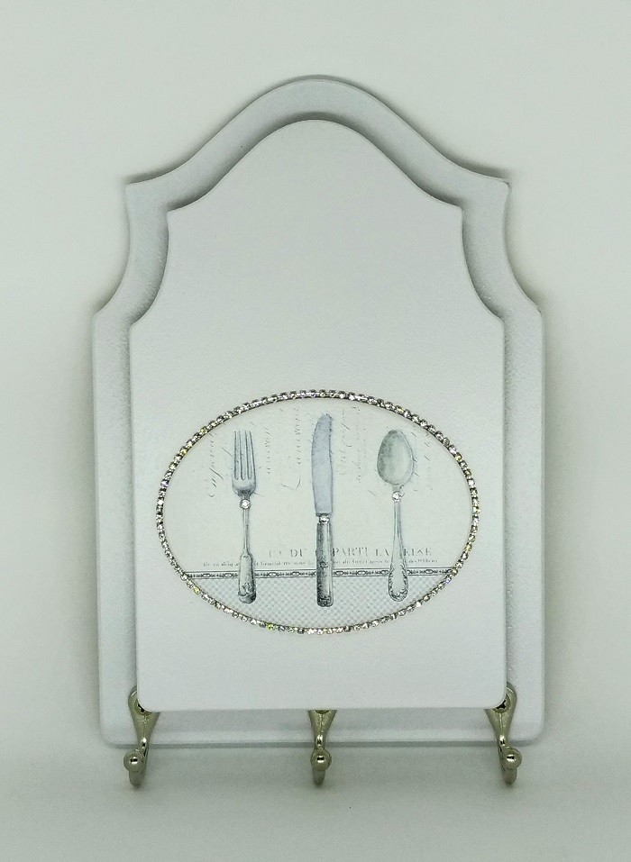 Porta Chaves com Desenhos de Talheres