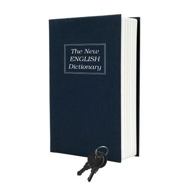 Porta Objetos Livro Cofre com Chave Caixa Organizadora