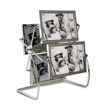 Porta Retrato Diferente modelo Roda Gigante Giratório para 8 Fotos 10x15cm