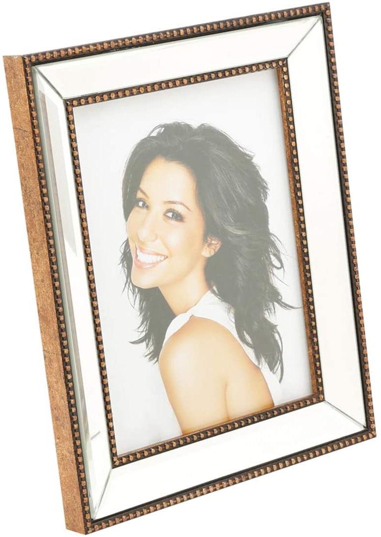 Porta Retrato Espelhado De Plástico Para Foto 13X18Cm - Prestige