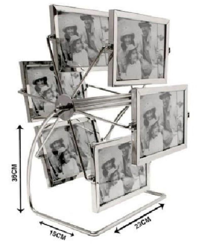 Porta Retrato Giratório 12 Fotos 10 X 15 Cm Roda Gigante