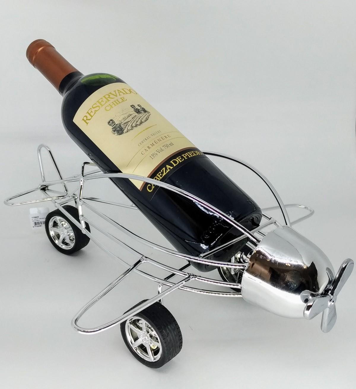 Porta Vinho Avião 36x33cm