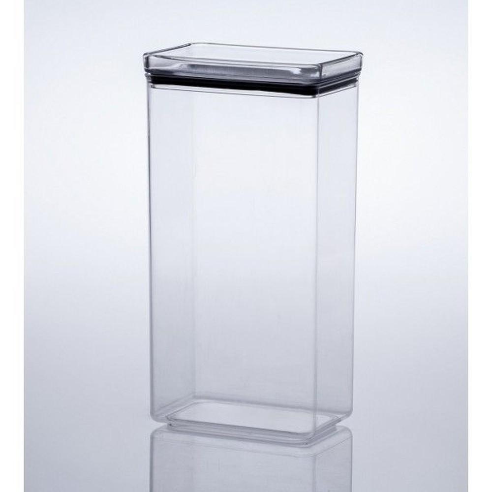 Pote Hermético Transparente Quadrado 2600mL  Paramount