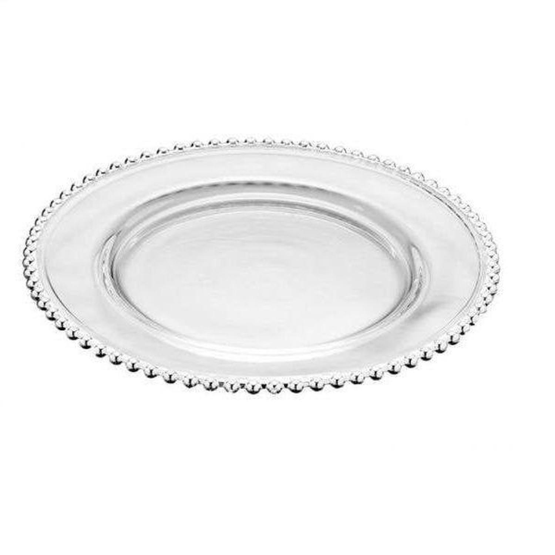 Prato Raso Cristal Pearl 28cm Transparente - Wolff