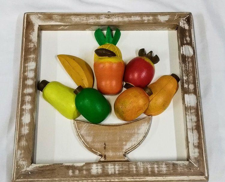 Quadro de Madeira Frutas 30x30