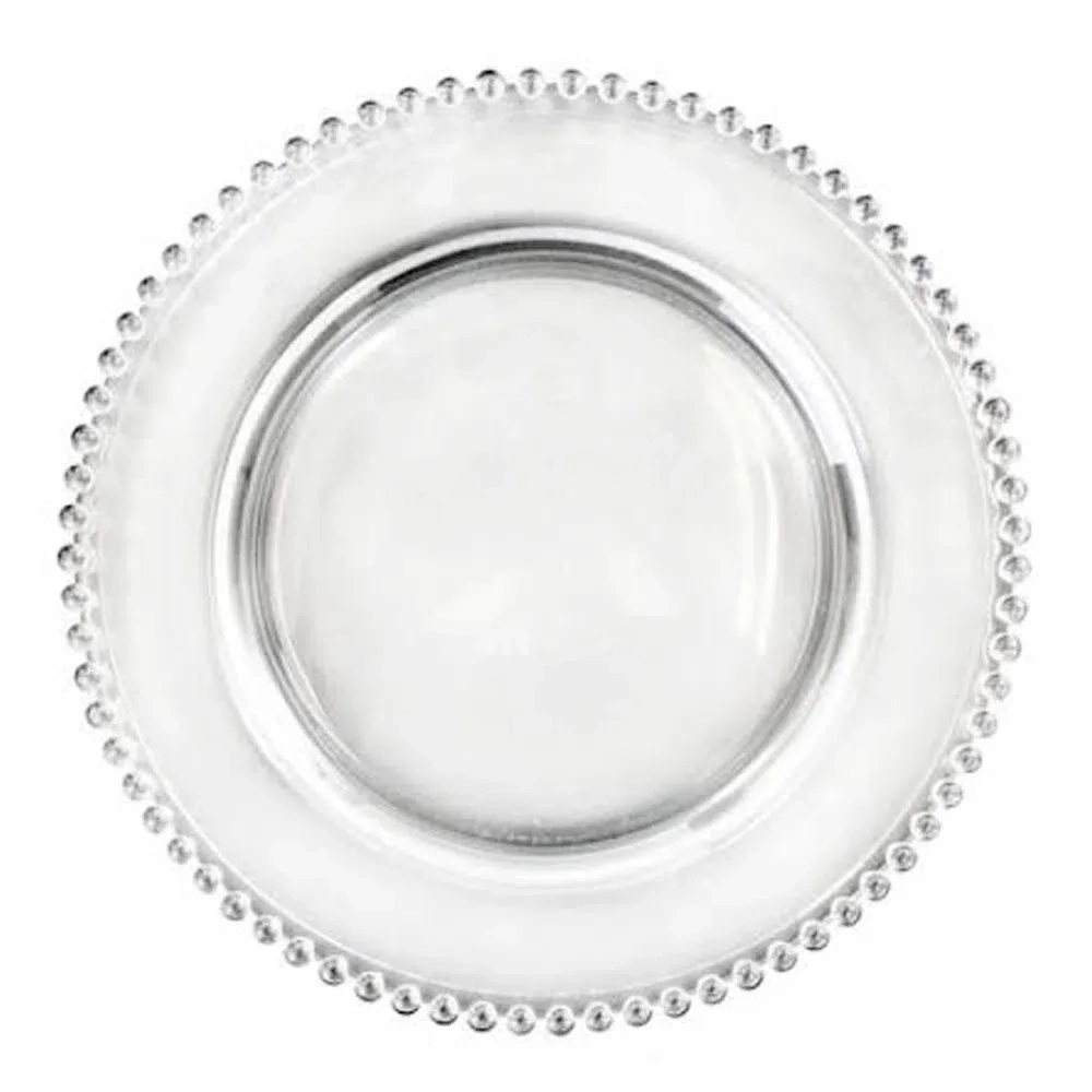 Sousplat de Cristal Pearl Transparente 32cm - Wolff