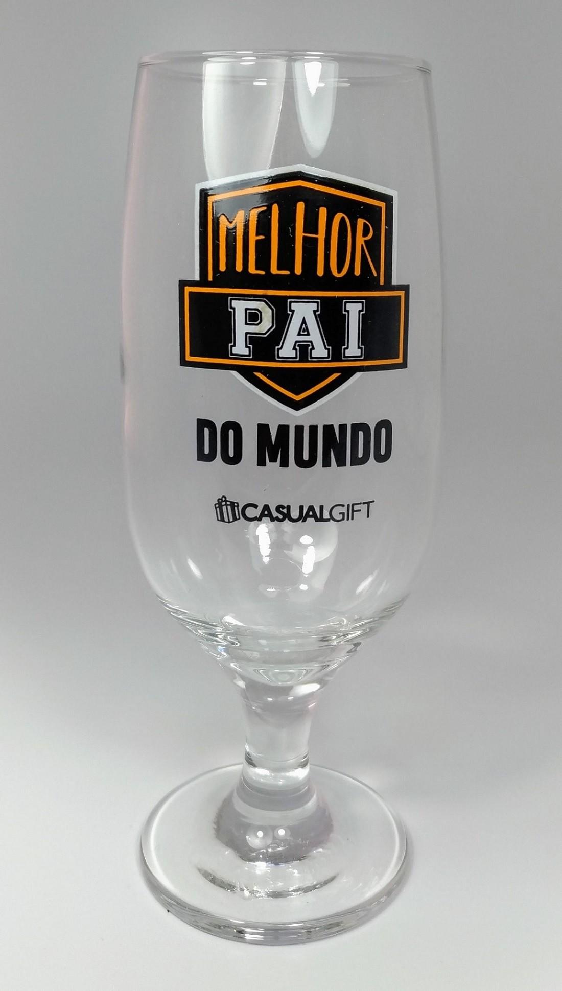Taça Para Cerveja 300ml MELHOR PAI DO MUNDO.
