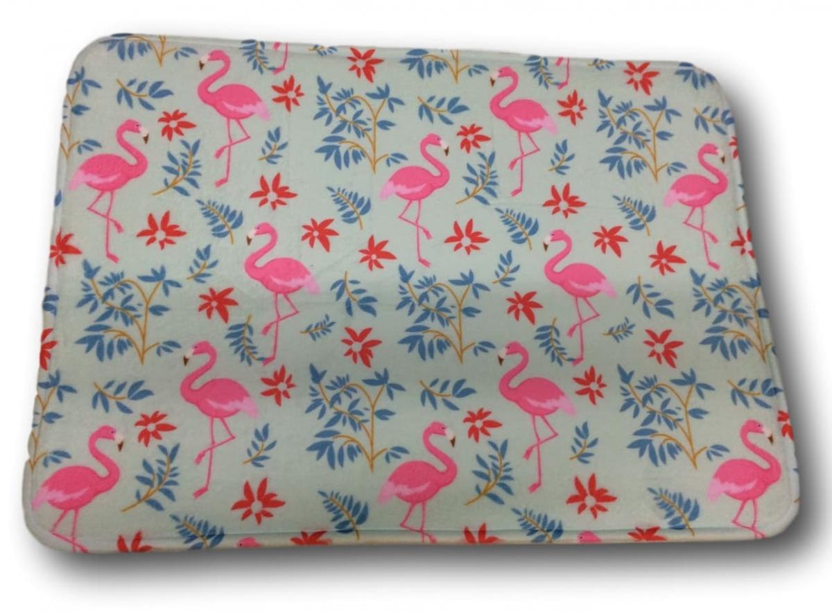 Tapete Antiderrapante Flamingo 40x60cm Tessile
