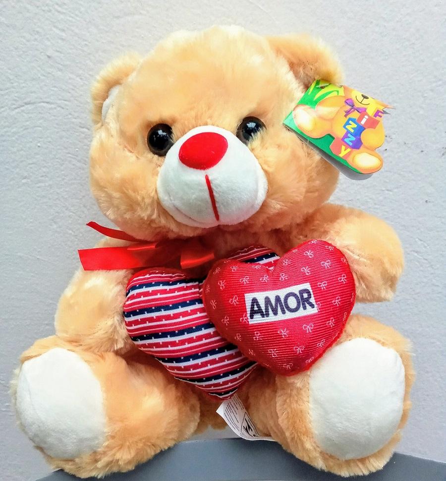 Urso Pelúcia 2 Corações 24cm - Fizzy