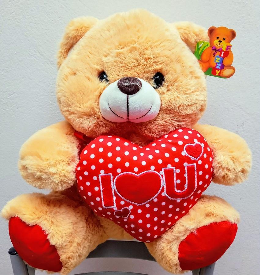 Urso Pelúcia Coração I Love 33cm - Fizzy