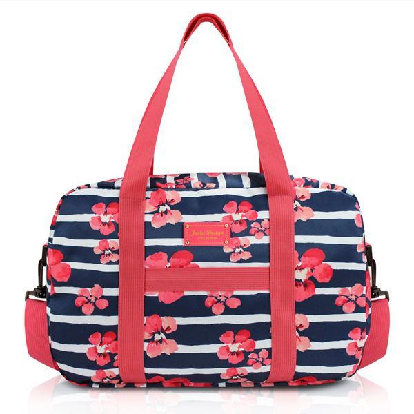 Bolsa de Viagem com Estampa Floral com Alça Ajustável - Jacki Design