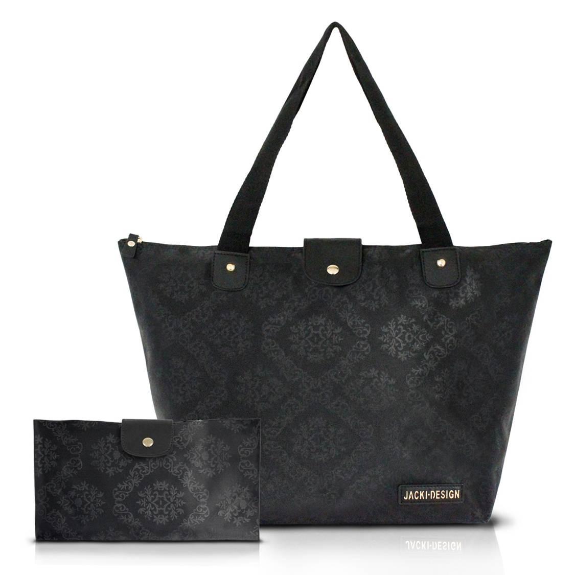 Bolsa Feminina Dobrável Grande Damasco - Jacki Design
