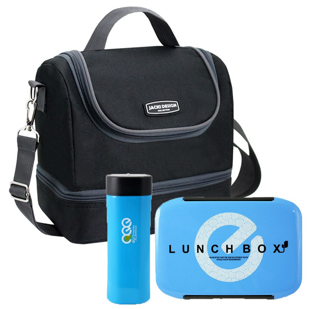 Bolsa Térmica com  2 Compartimentos + Marmita e Copo - Jacki Design