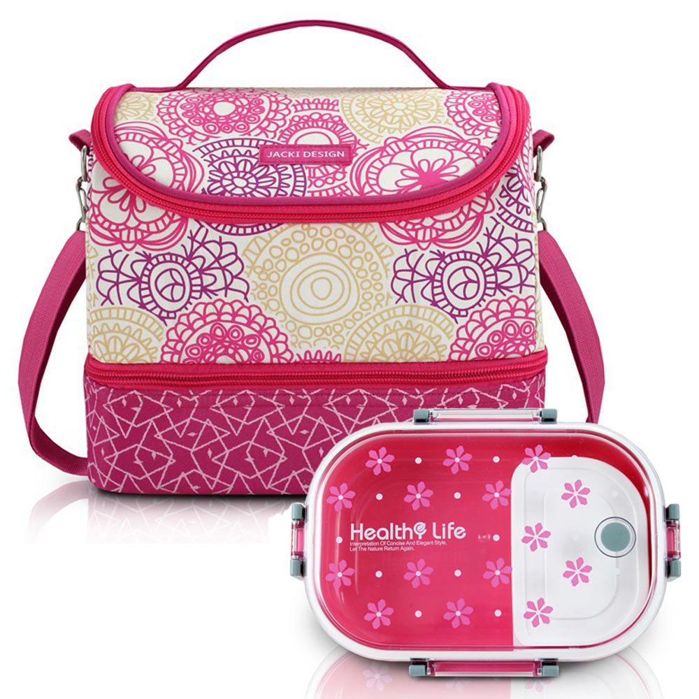 Bolsa Térmica com 2 Compartimentos + Marmita - Jacki Design