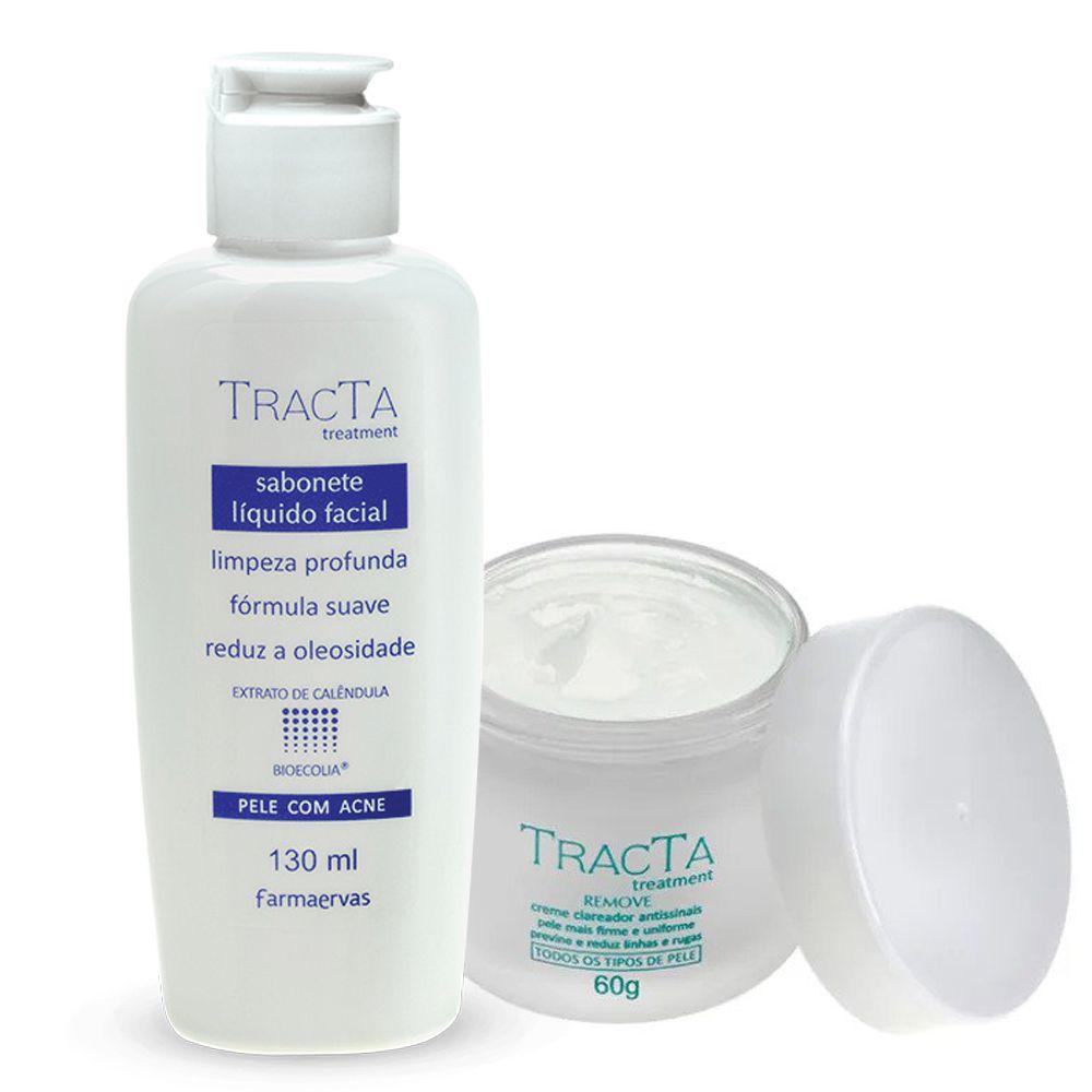 Clareador Antissinais + Sabonete Líquido - Tracta