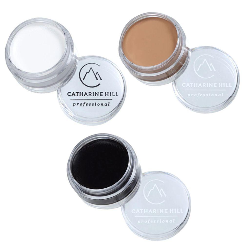Kit com 3 Clown Make Up - Branco - Preto - Adjuster Claro - Catharine Hill