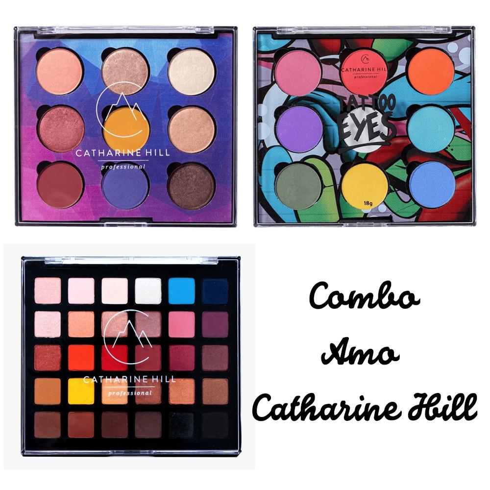 Combo Amo Catharine Hill - Kit com 3 Paletas de Sombras