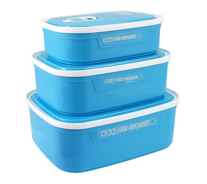 Conjunto de Potes Para Alimentos Com 3 Peças - Jacki Design