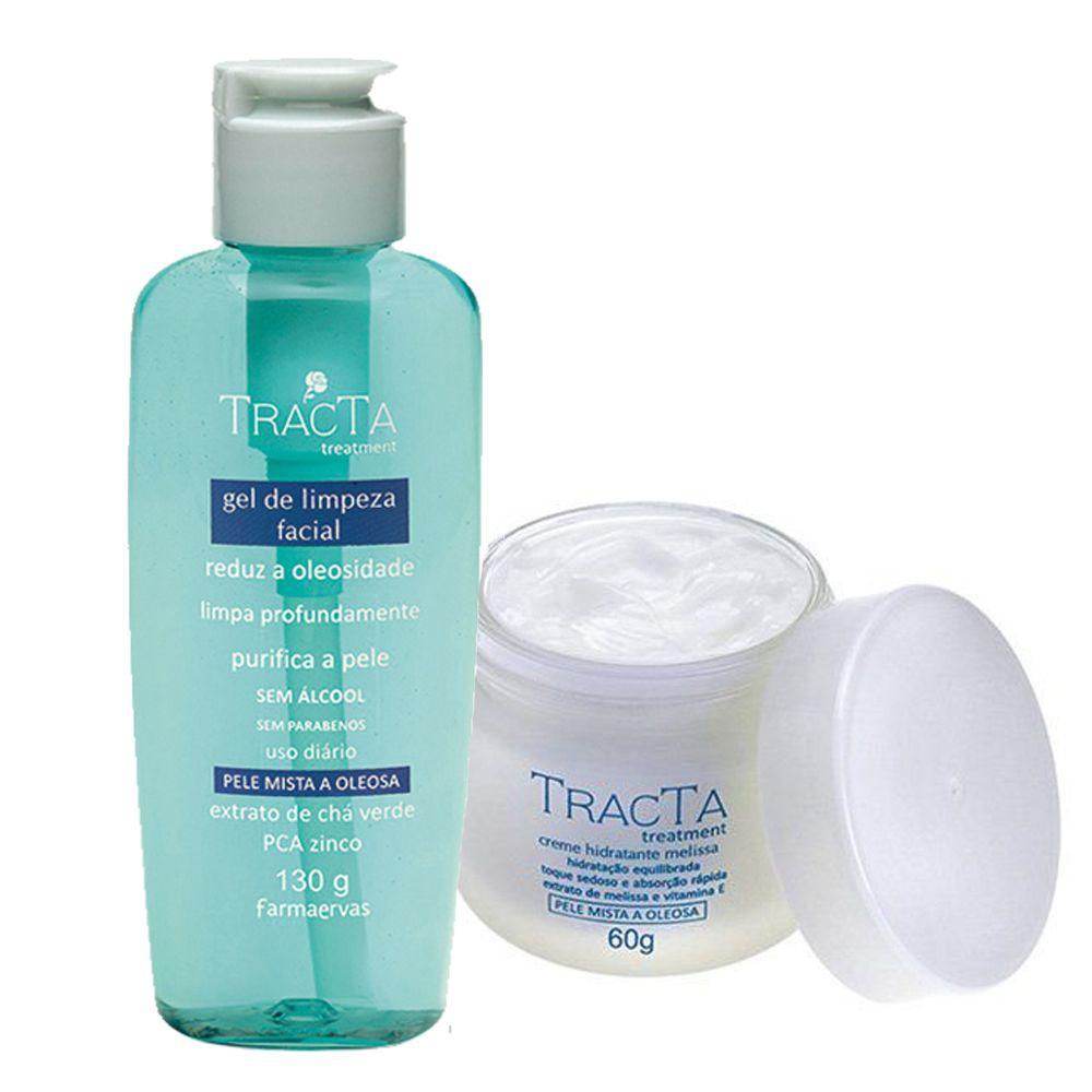 Creme Hidratante Melissa + Gel de Limpeza Facial - Tracta