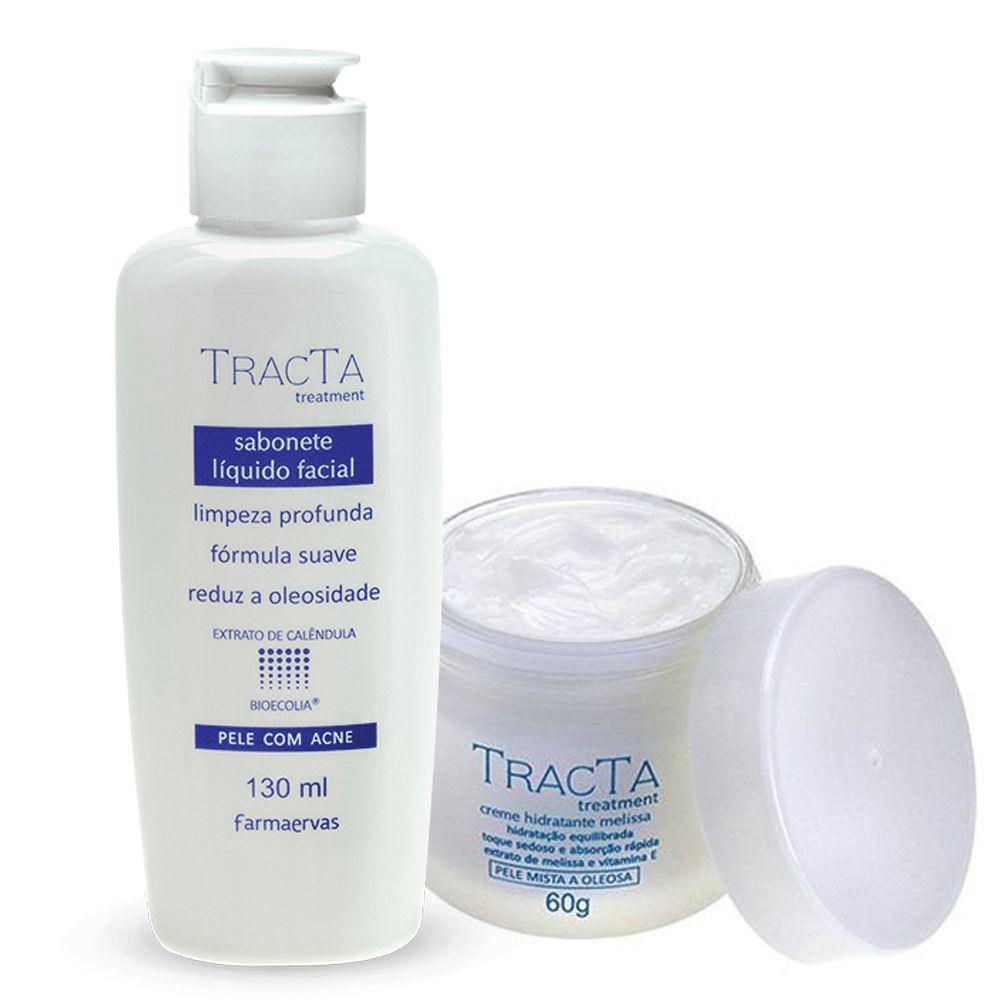 Creme Hidratante Melissa + Sabonete Líquido Facial - Tracta