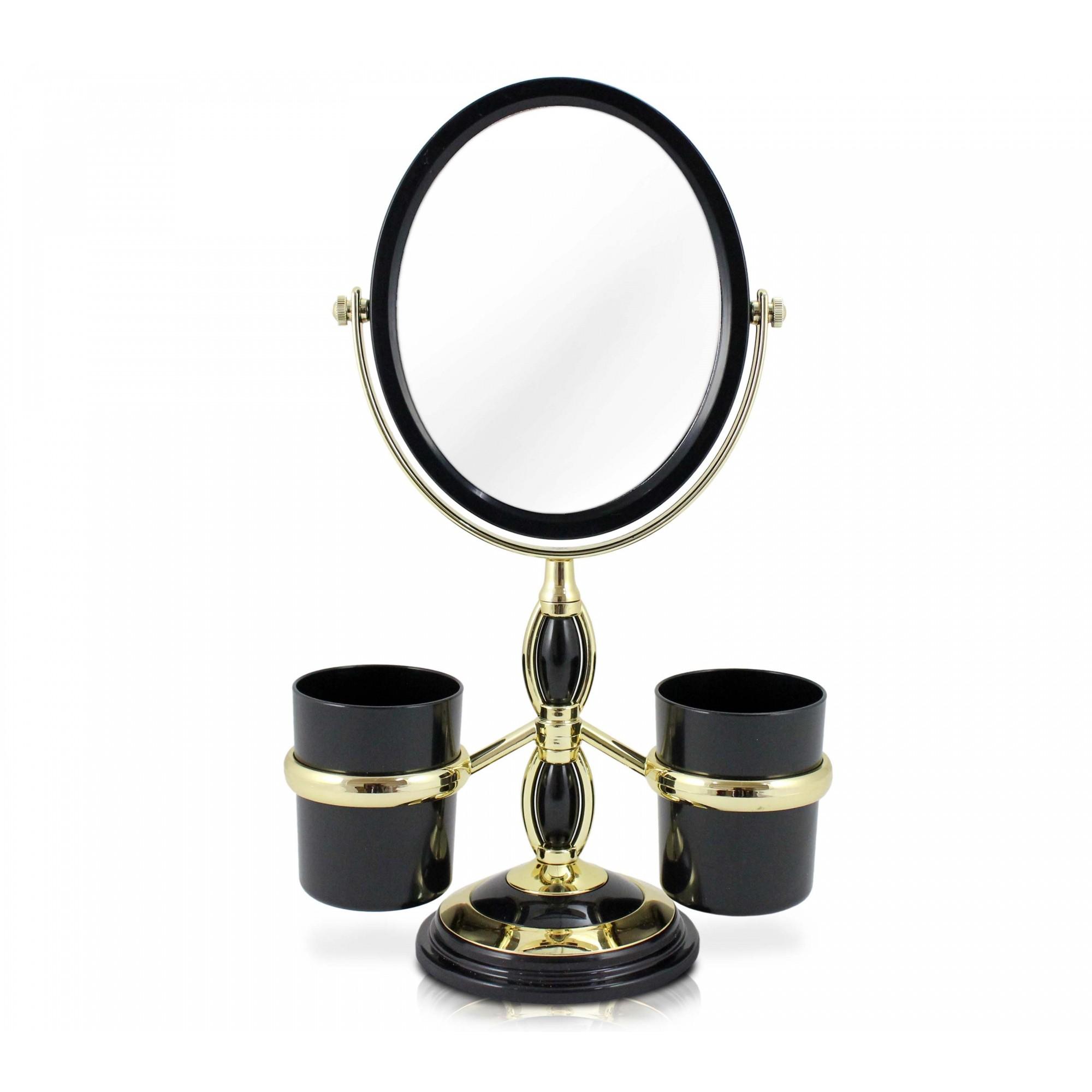 Espelho de Bancada com  Suportes Laterais - Jacki Design