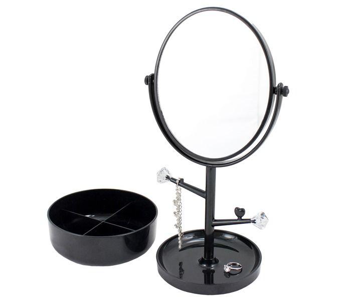 Espelho de Mesa Com Compartimento para Jóias - Jacki Design