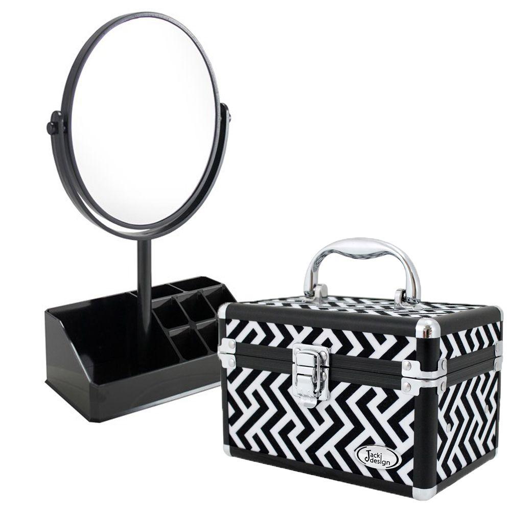 Espelho de Mesa com Divisória + Maleta Multiuso - Jacki Design
