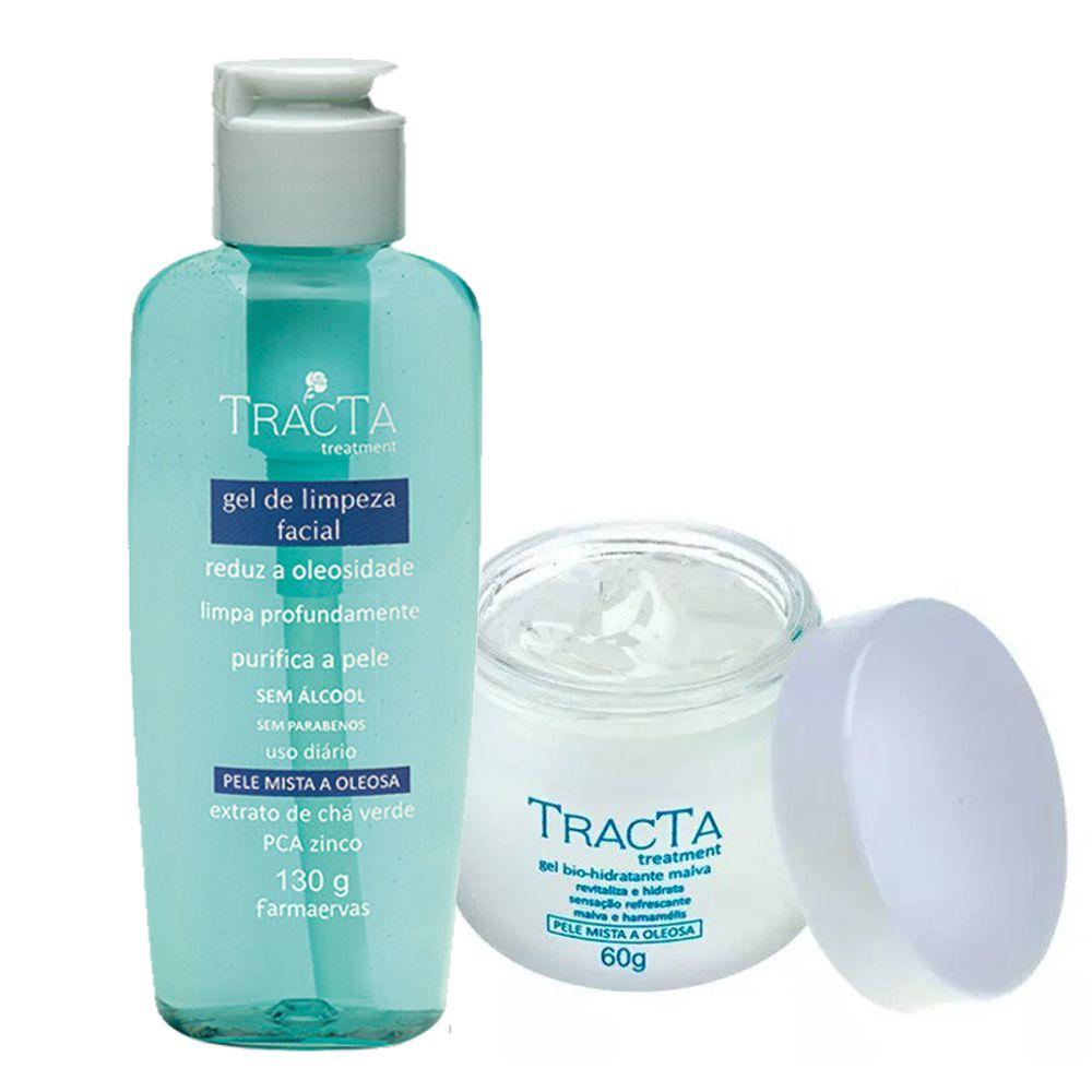 Gel Bio Hidratante Malva + Gel de Limpeza Facial - Tracta