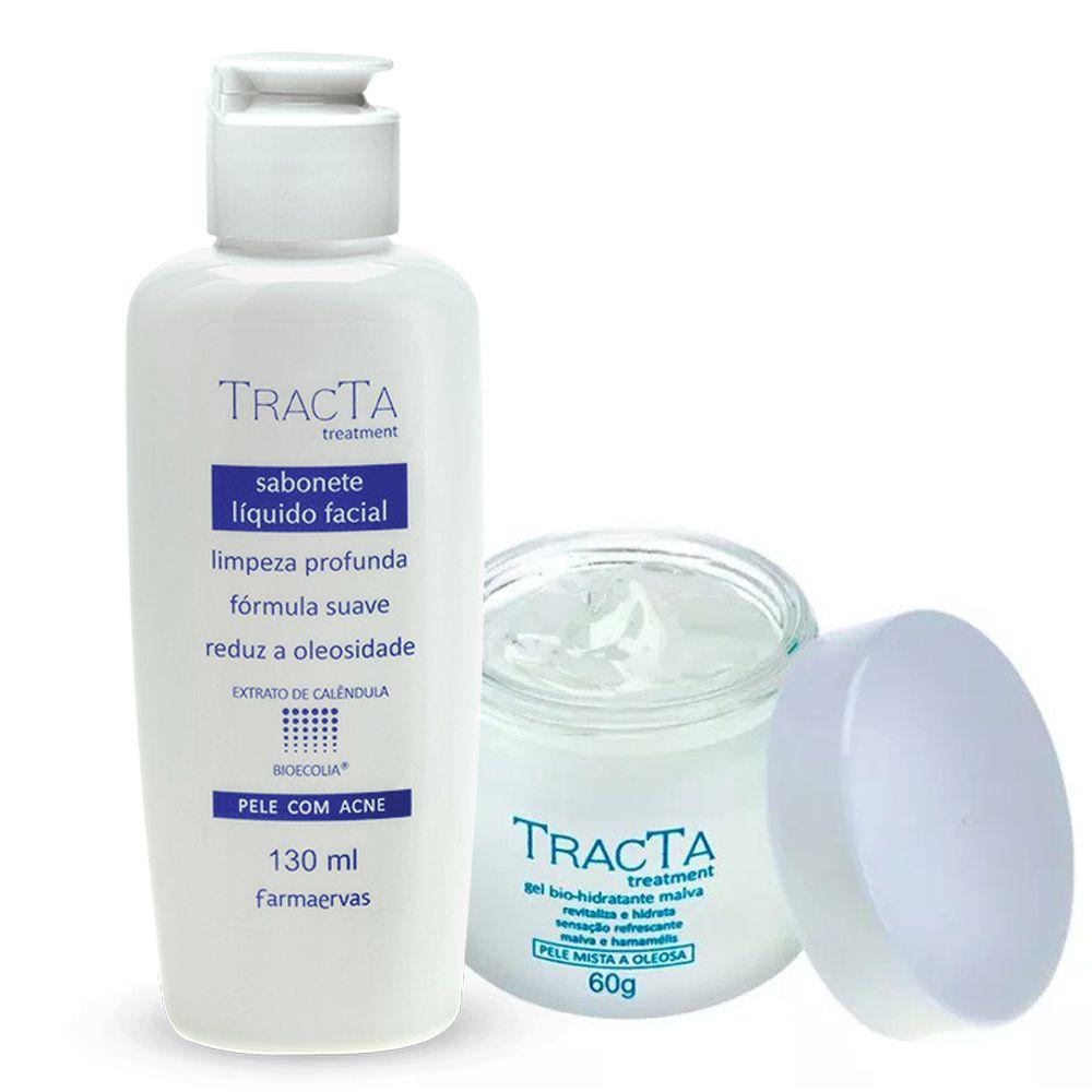 Gel Bio Hidratante Malva + Sabonete Líquido Facial - Tracta