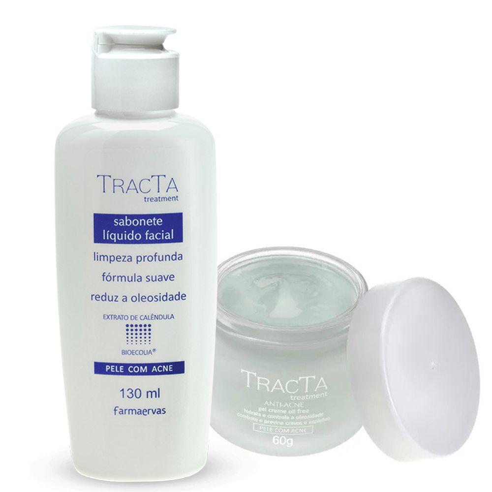 Gel Creme Anti Acne + Sabonete Líquido Facial - Tracta