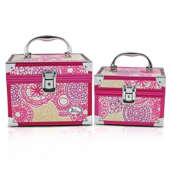 Kit com 2 Maletas de Acessórios Bijuteria Maquiagem - Jacki Design
