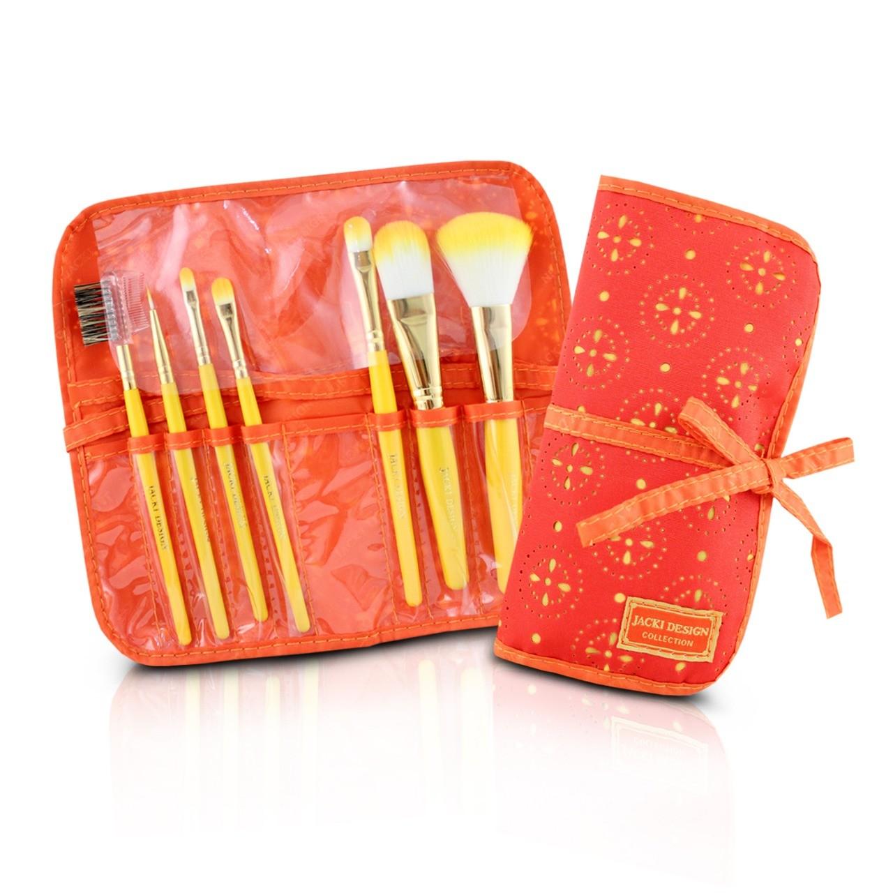 Kit com 7 Pinceis de Maquiagem - Jacki Design