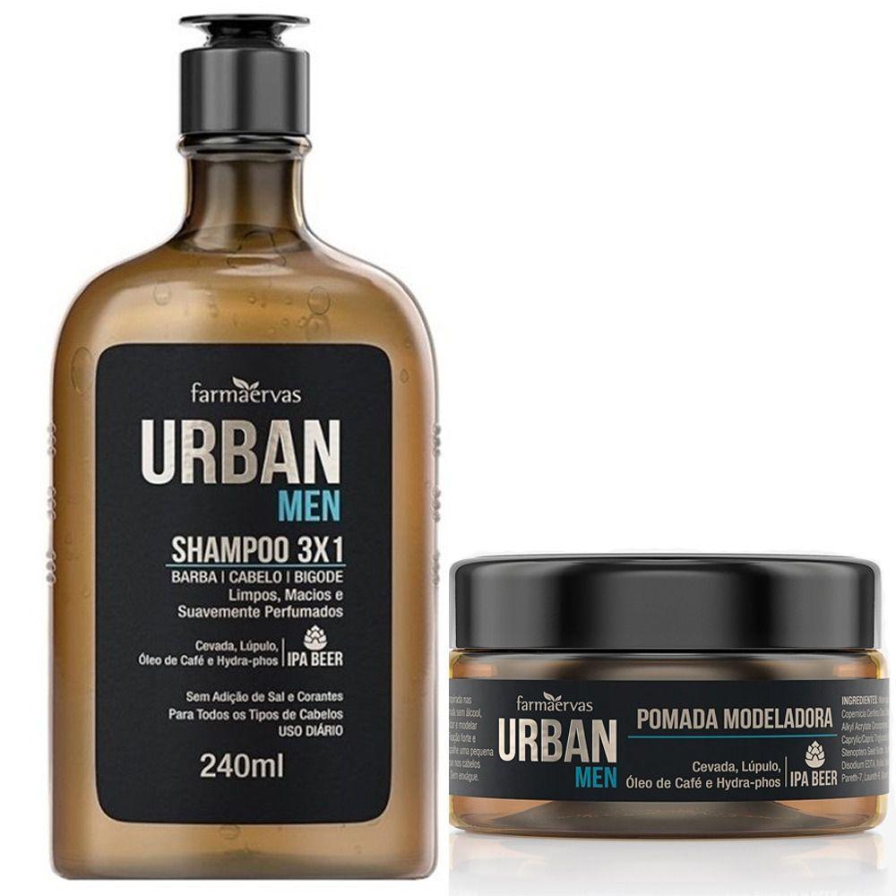 Kit Shampoo + Pomada Modeladora Urban Men Farmaervas