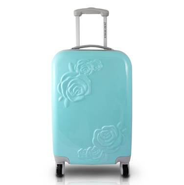 Mala de Viagem 360 Graus com Flor c/ Relevo - Jacki Design