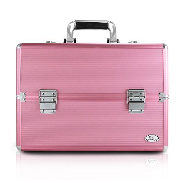 Maleta de Maquiagem Profissional Rosa Grande - Jacki Design BJH17330