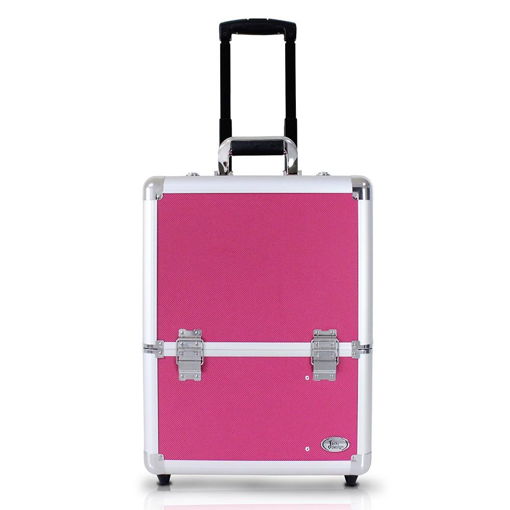 Maleta de Maquiagem Com Rodinhas Pink - Jacki Design