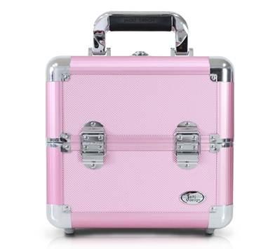 Maleta de Maquiagem Profissional Rosa BSB15101 - Jacki Design