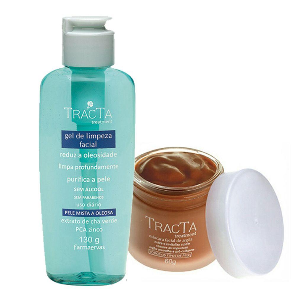Máscara de Argila + Gel de Limpeza Facial - Tracta