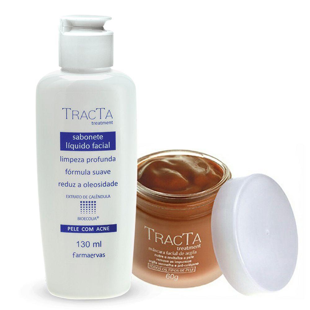 Máscara de Argila + Sabonete Líquido Facial - Tracta