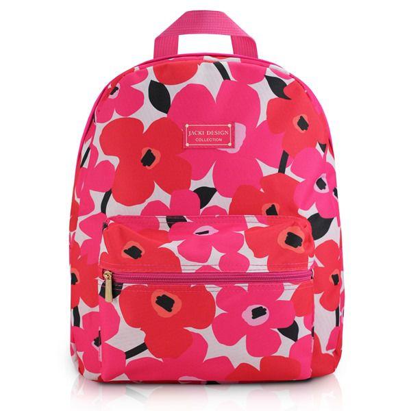 Mochila Escolar com Estampa Floral para Jovens - Jacki Design