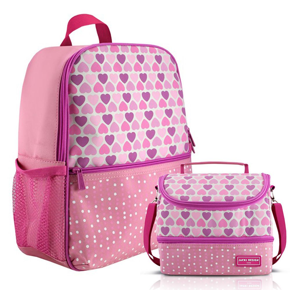 Mochila Escolar Infantil Feminina + Lancheira - Jacki Design